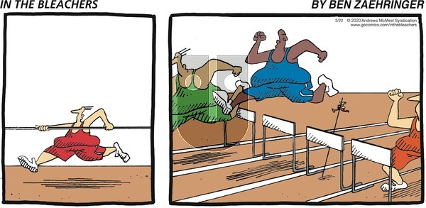 In the Bleachers on Sunday March 22, 2020 Comic Strip