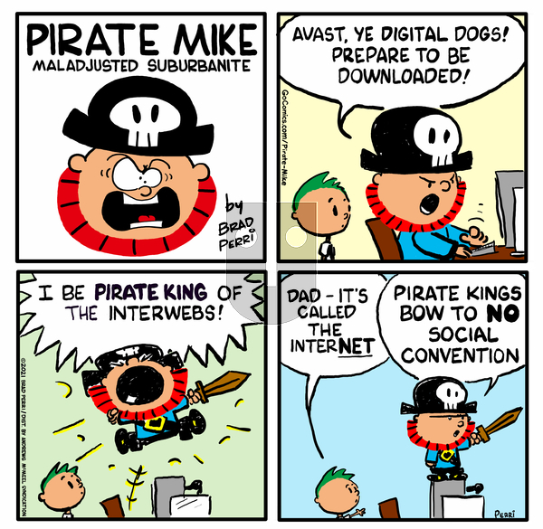 Pirate Mike on Monday April 12, 2021 Comic Strip