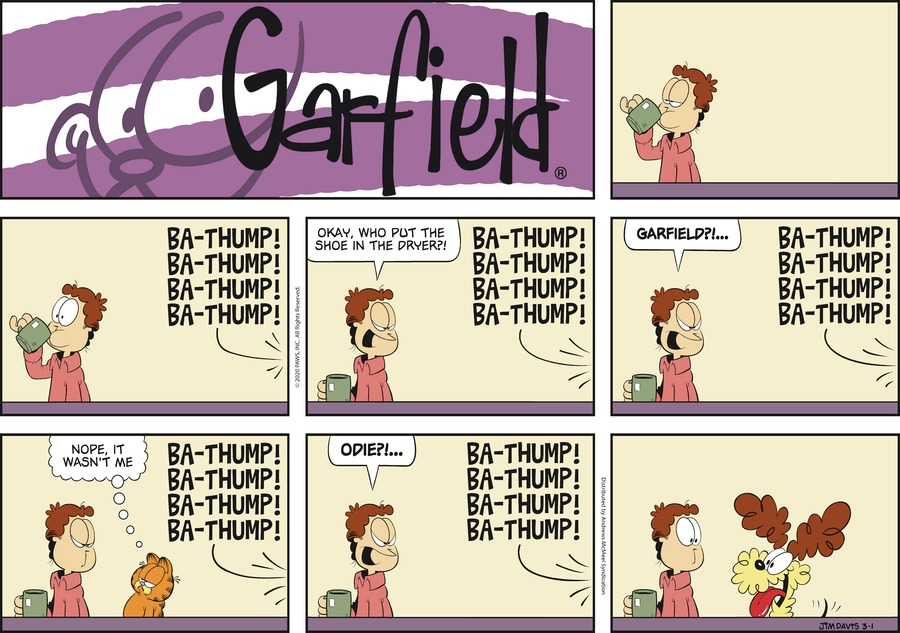 Garfield Comic Strip for March 01, 2020