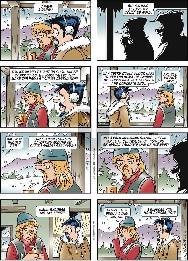 Doonesbury - Sunday February 2, 2014 Comic Strip