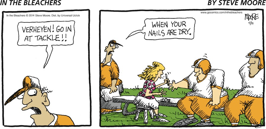 In the Bleachers for May 11, 2014 Comic Strip