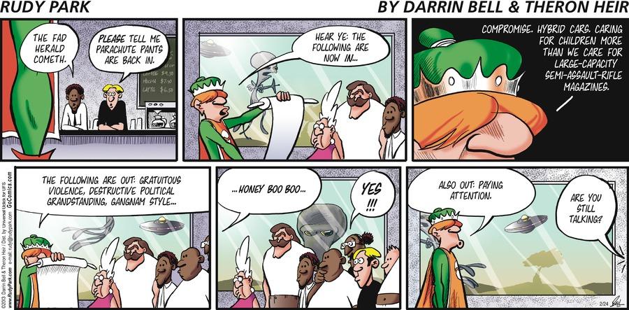 Rudy Park for Feb 24, 2013 Comic Strip
