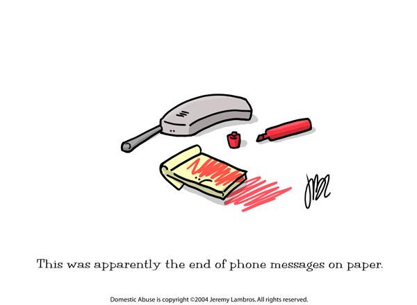 Domestic Abuse Comic Strip for June 24, 2006