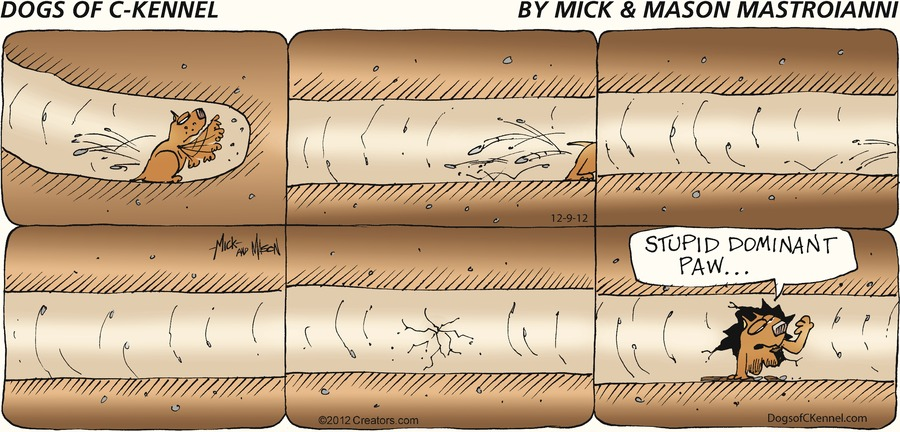Dogs of C-Kennel for Dec 9, 2012 Comic Strip