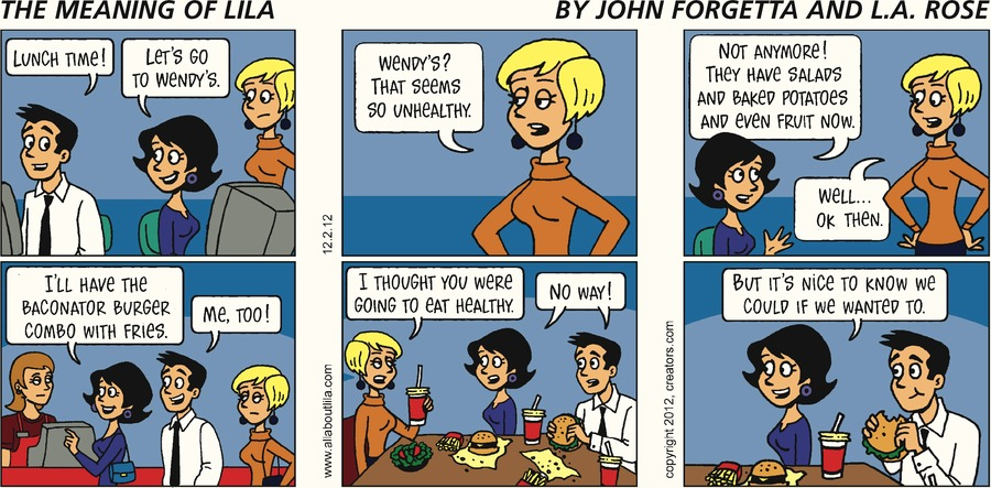 The Meaning of Lila for Dec 2, 2012 Comic Strip