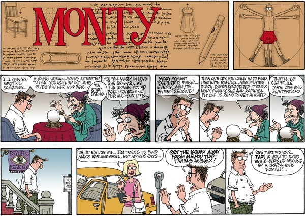 Monty on Sunday October 6, 2013 Comic Strip