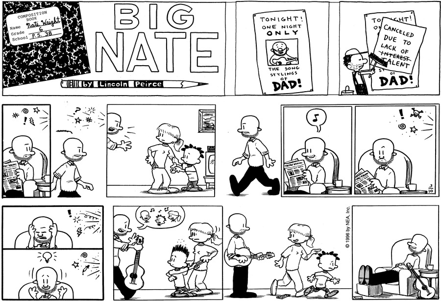 Big Nate Comic Strip for March 10, 1996