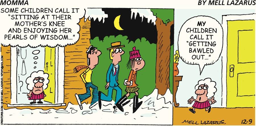 Momma Comic Strip for December 09, 2012