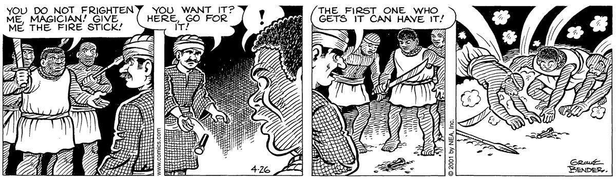 Alley Oop for Apr 26, 2001 Comic Strip