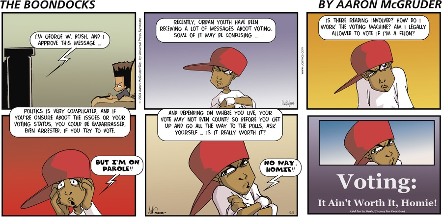 The Boondocks Comic Strip for September 05, 2004