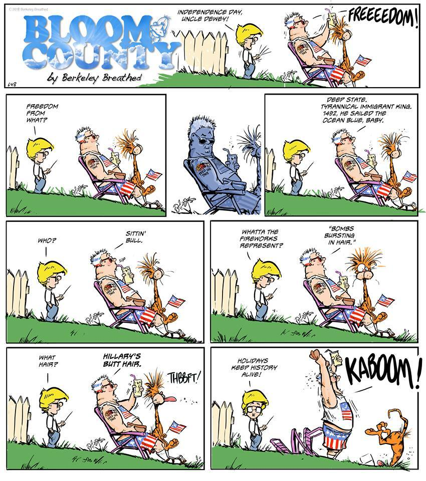 Bloom County 2018 Comic Strip for July 12, 2018