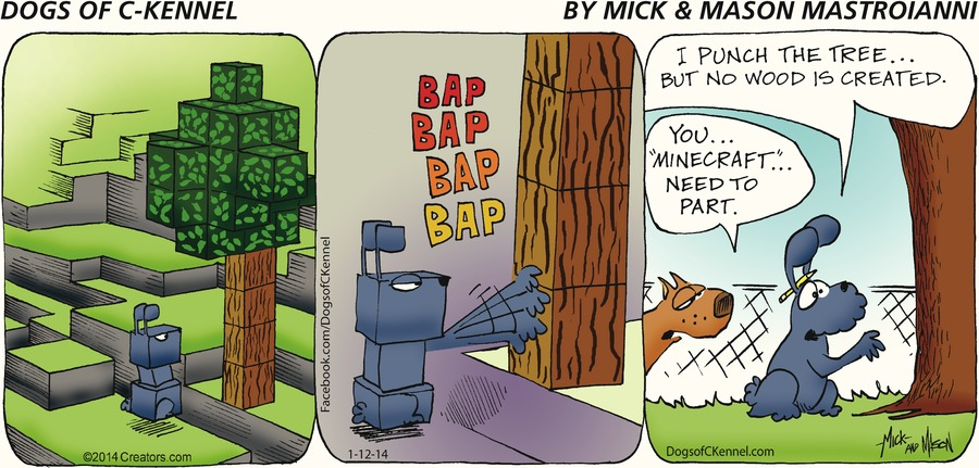 Dogs of C-Kennel Comic Strip for January 12, 2014