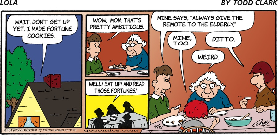 Lola Comic Strip for April 21, 2019