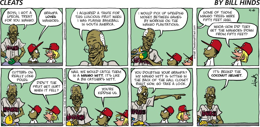 Cleats for Apr 6, 2008 Comic Strip