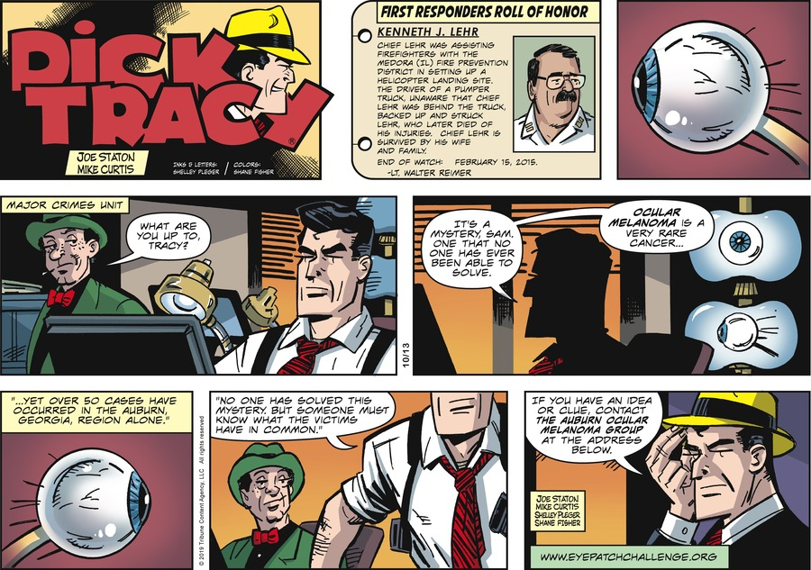 Dick Tracy by Joe Staton and Mike Curtis for October 13, 2019