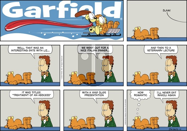 Garfield on Sunday January 5, 2020 Comic Strip