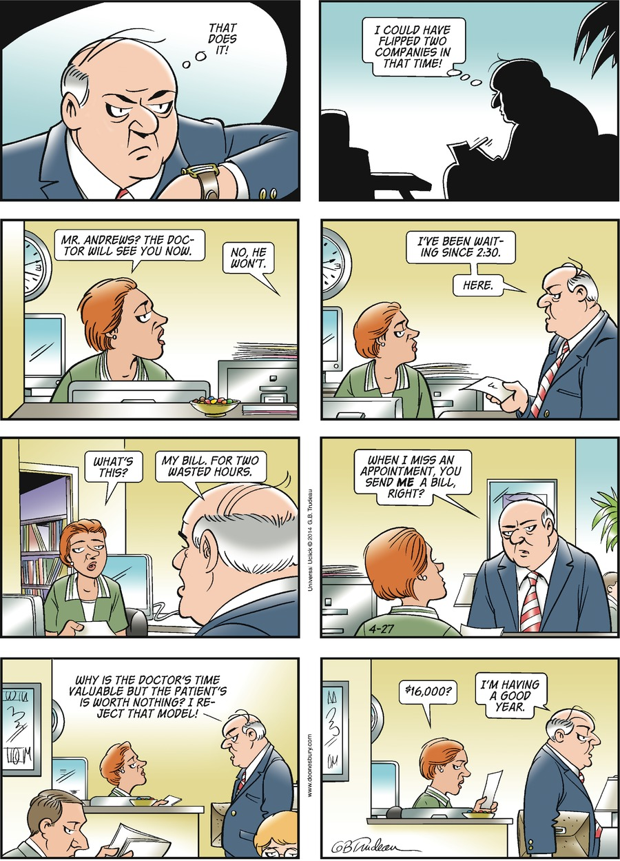 Doonesbury for Apr 27, 2014 Comic Strip
