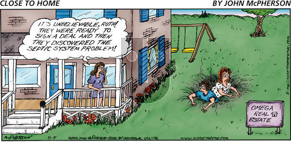 Close to Home on Sunday August 5, 2012 Comic Strip