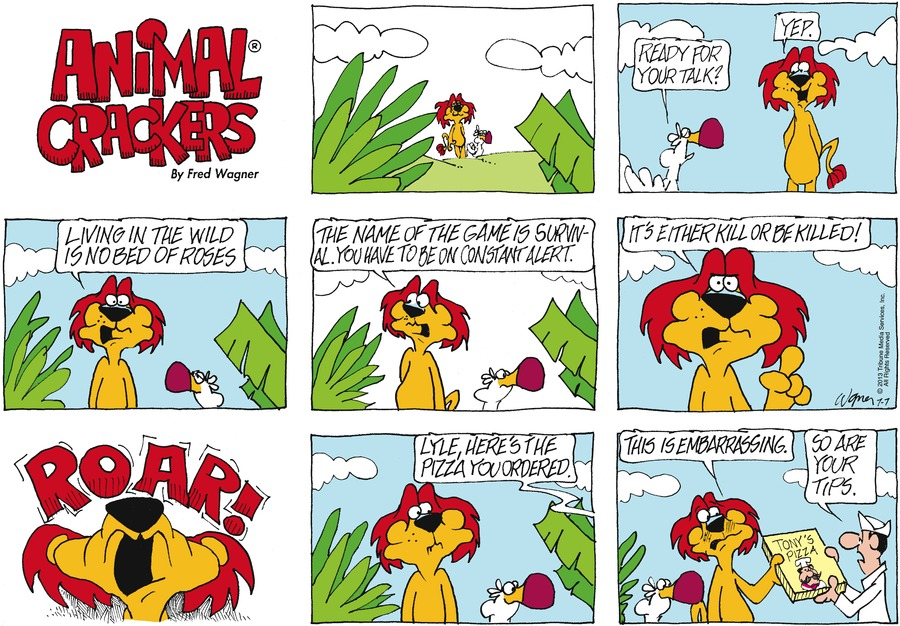 Animal Crackers for Jul 7, 2013 Comic Strip