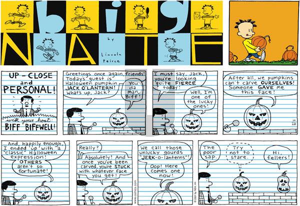 Big Nate on Sunday October 28, 2001 Comic Strip