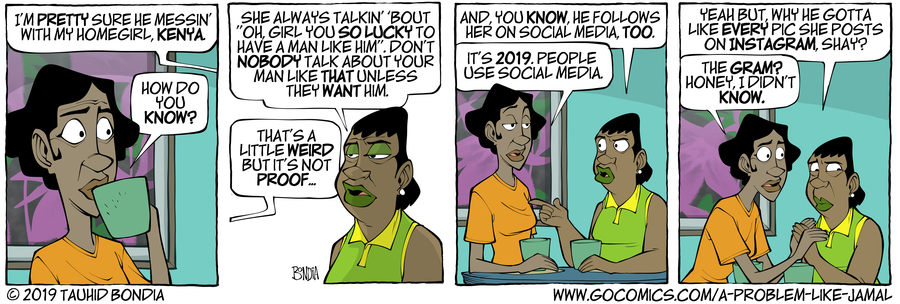 A Problem Like Jamal Comic Strip for March 13, 2019