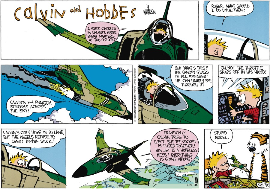 Calvin and Hobbes Comic Strip for April 22, 2018