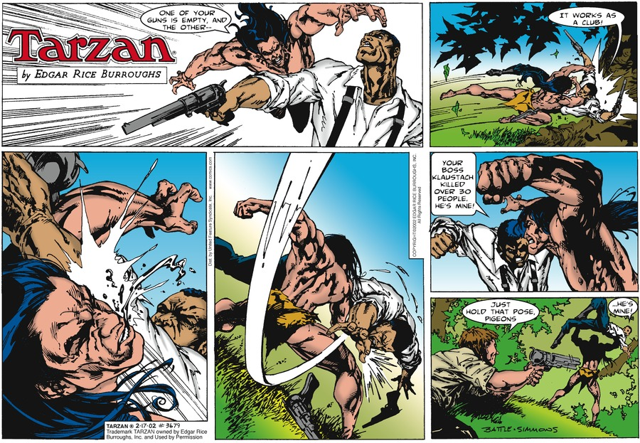 Tarzan Comic Strip for February 17, 2002