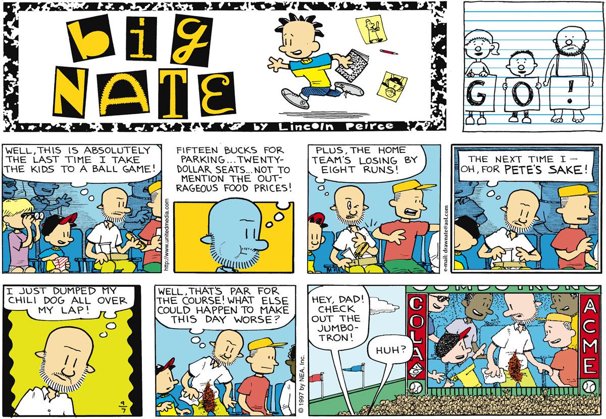 Big Nate Comic Strip for September 07, 1997