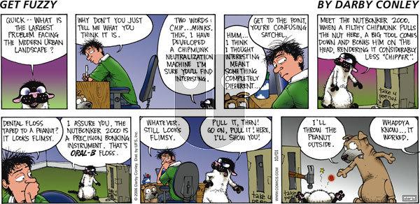 Get Fuzzy on Sunday October 1, 2006 Comic Strip