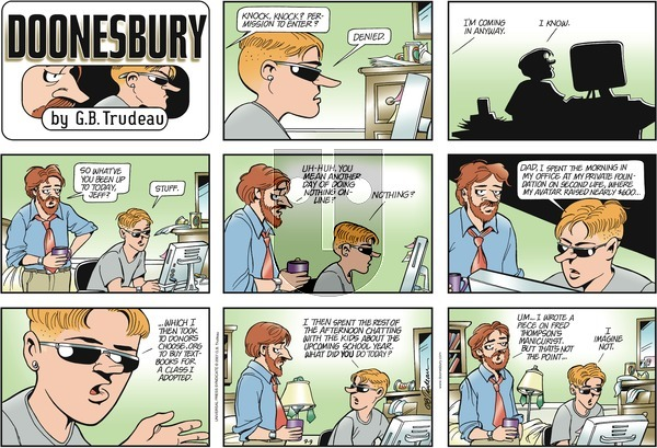 Doonesbury on Sunday September 9, 2007 Comic Strip