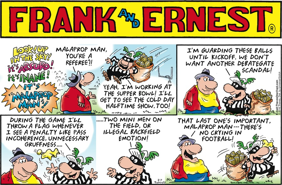 Frank and Ernest Comic Strip for February 07, 2016