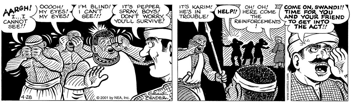 Alley Oop for Apr 28, 2001 Comic Strip