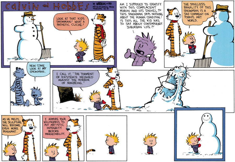 Calvin and Hobbes Comic Strip for December 05, 1993