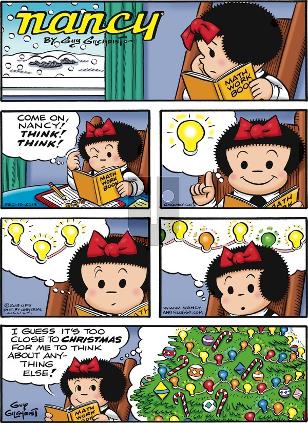 Nancy on Sunday December 15, 2013 Comic Strip