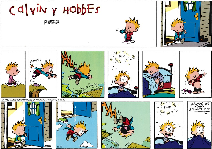Calvin and Hobbes en Español Comic Strip for November 17, 2019