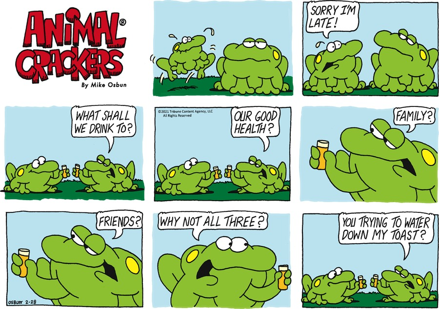 Animal Crackers Comic Strip for February 28, 2021