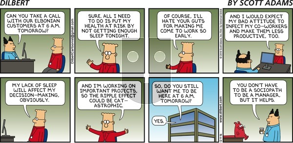 Dilbert - Sunday December 11, 2016 Comic Strip