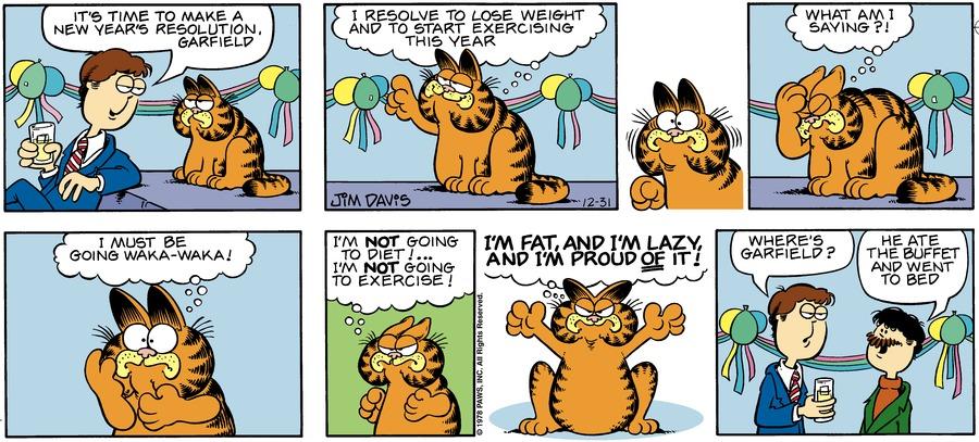 Garfield Classics Comic Strip for January 01, 2017