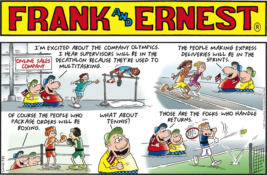 Frank and Ernest Comic Strip for July 25, 2021