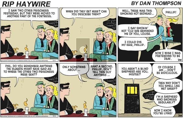 Rip Haywire on Sunday September 6, 2020 Comic Strip