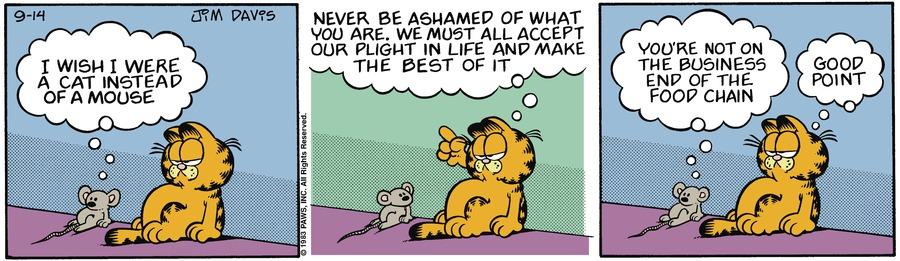 Garfield Classics Comic Strip for September 19, 2021
