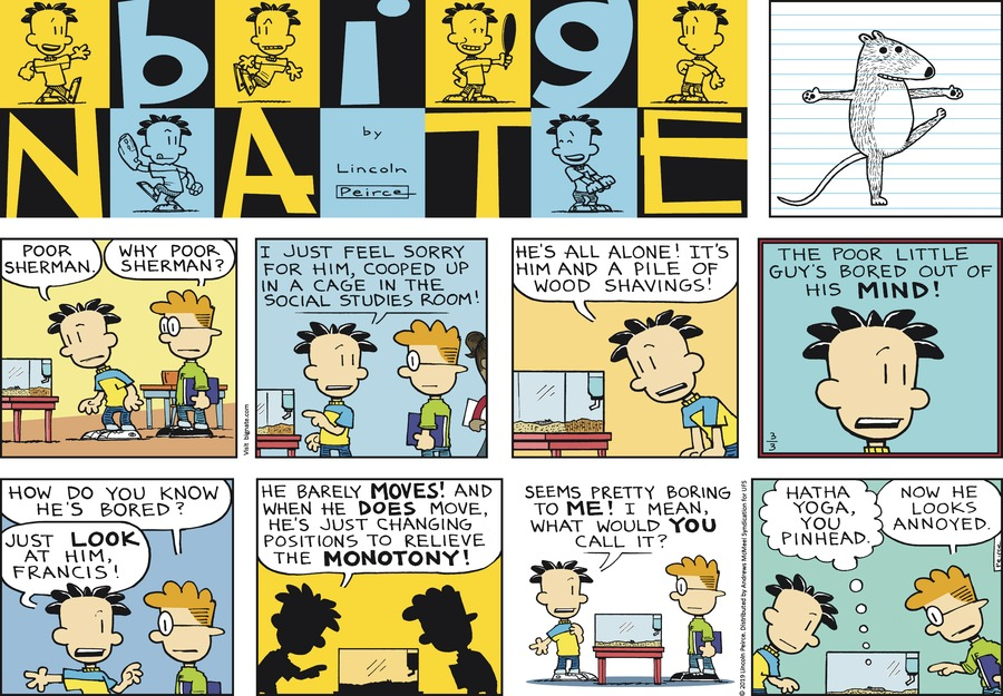 Big Nate by Lincoln Peirce for March 03, 2019
