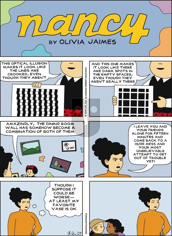 Nancy on Sunday May 26, 2019 Comic Strip