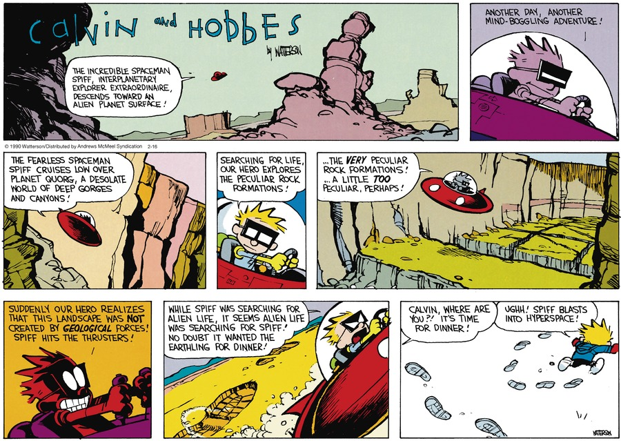 Calvin and Hobbes Comic Strip for February 16, 2020