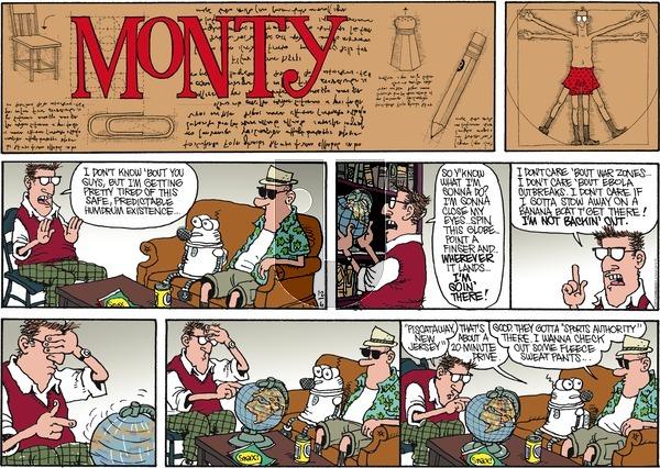 Monty on Sunday December 6, 2015 Comic Strip