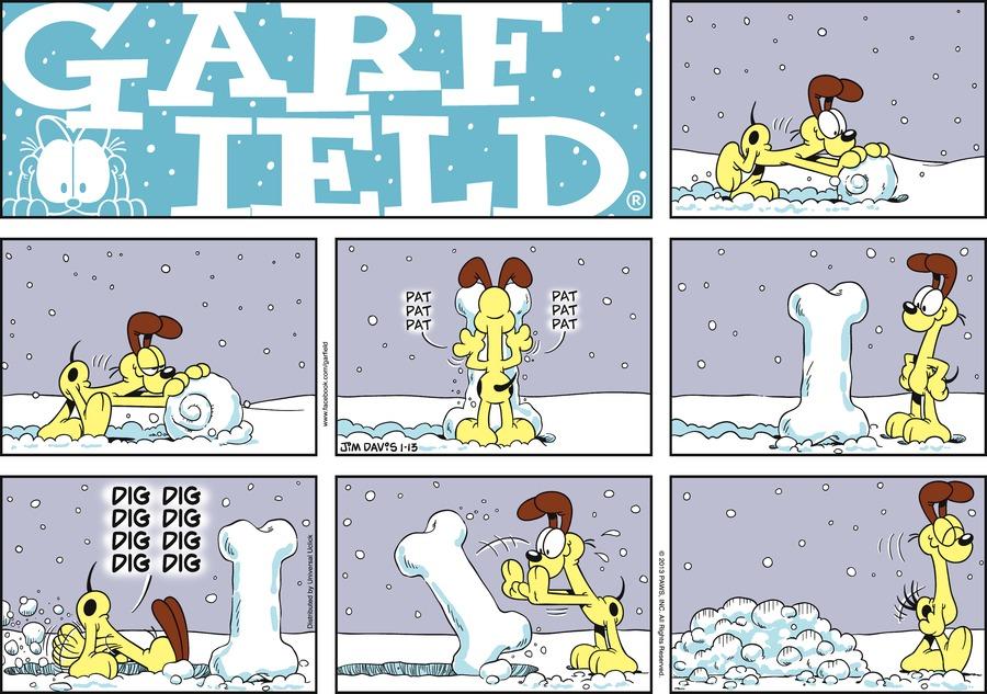 Garfield Comic Strip for January 13, 2013