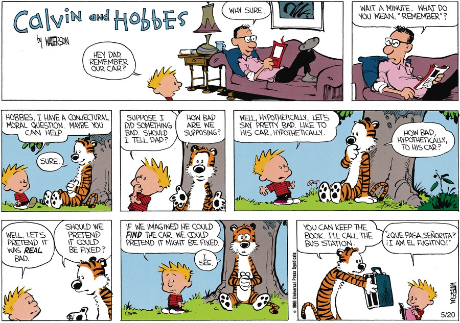 Calvin: Hey dad, Remember our car?