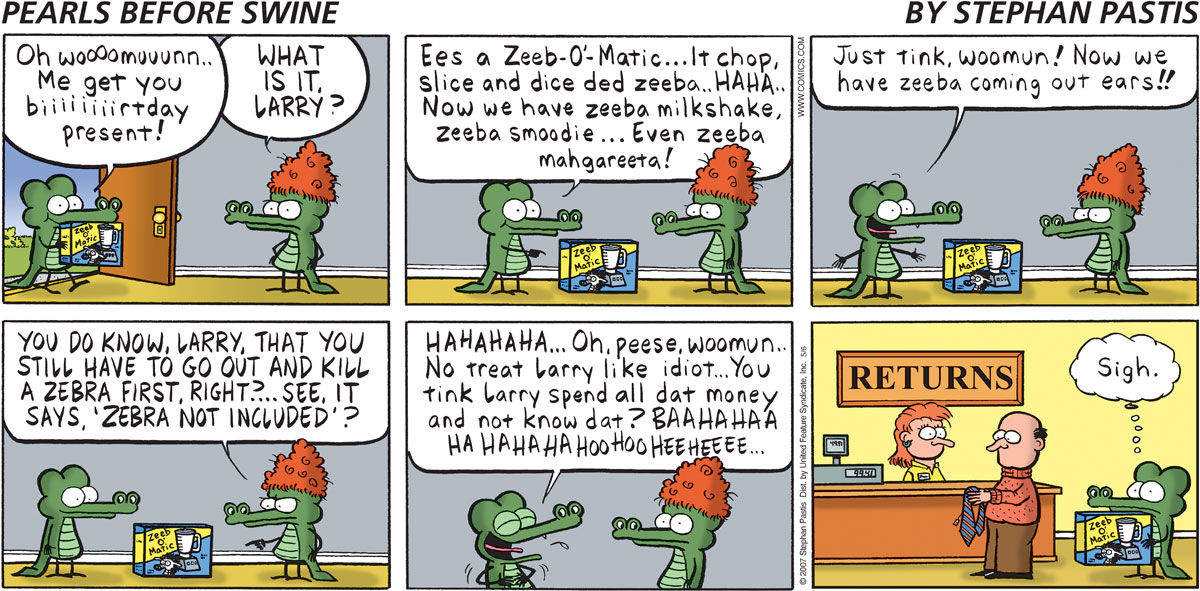 Pearls Before Swine Comic Strip for May 06, 2007