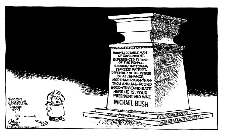 Pat Oliphant Comic Strip for August 28, 1988
