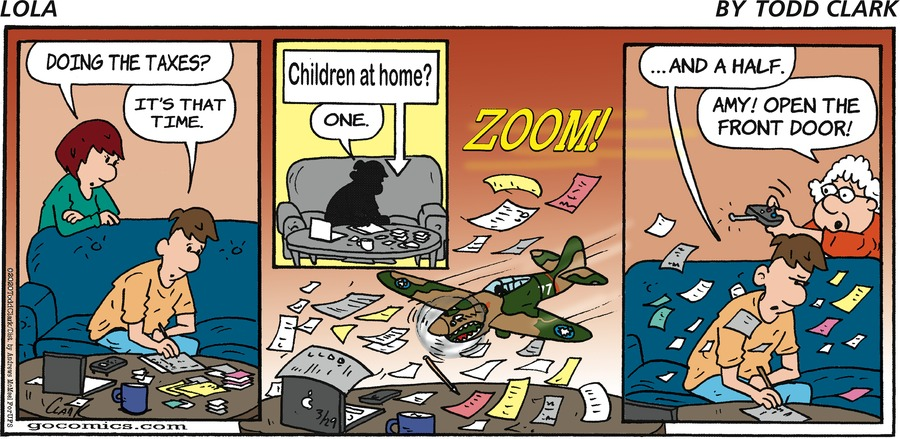 Lola Comic Strip for March 29, 2020